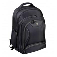 "Port Manhattan 15""/17"" Business Backpack - Black"