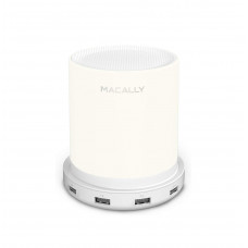 MACALLY Table Lamp with 4 USB Port Chargers