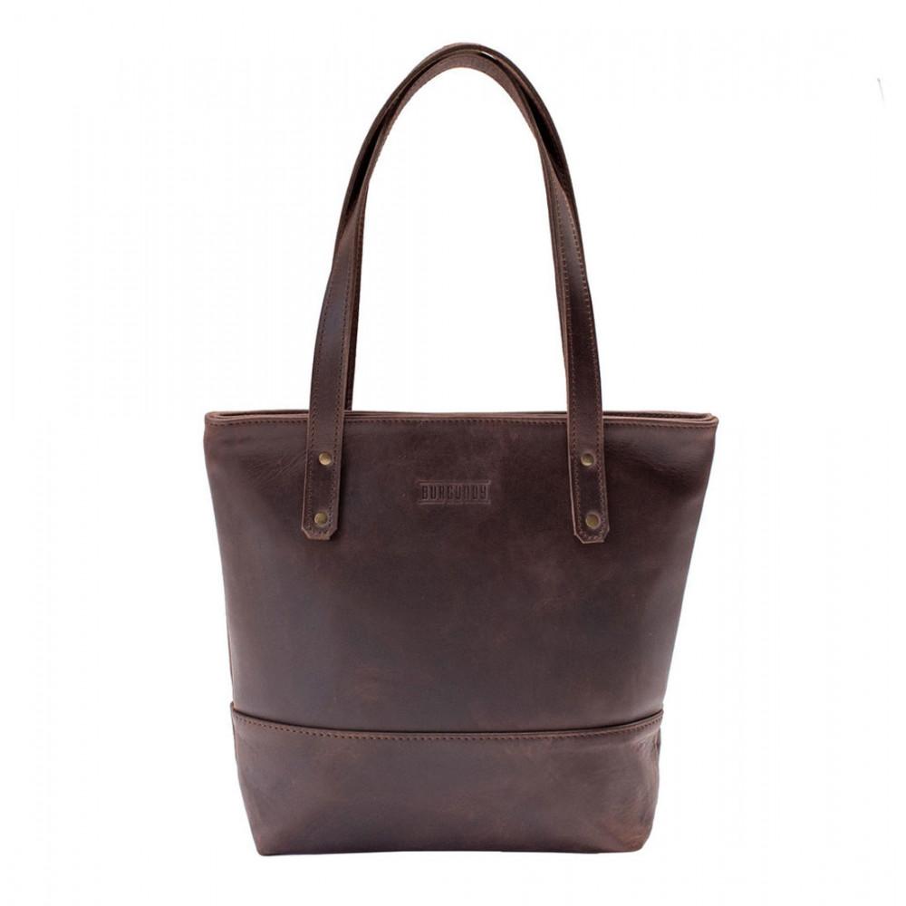 Burgundy Collective Leather Shopper Bag