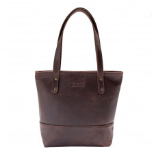 Burgundy Collective Leather Shopper Bag