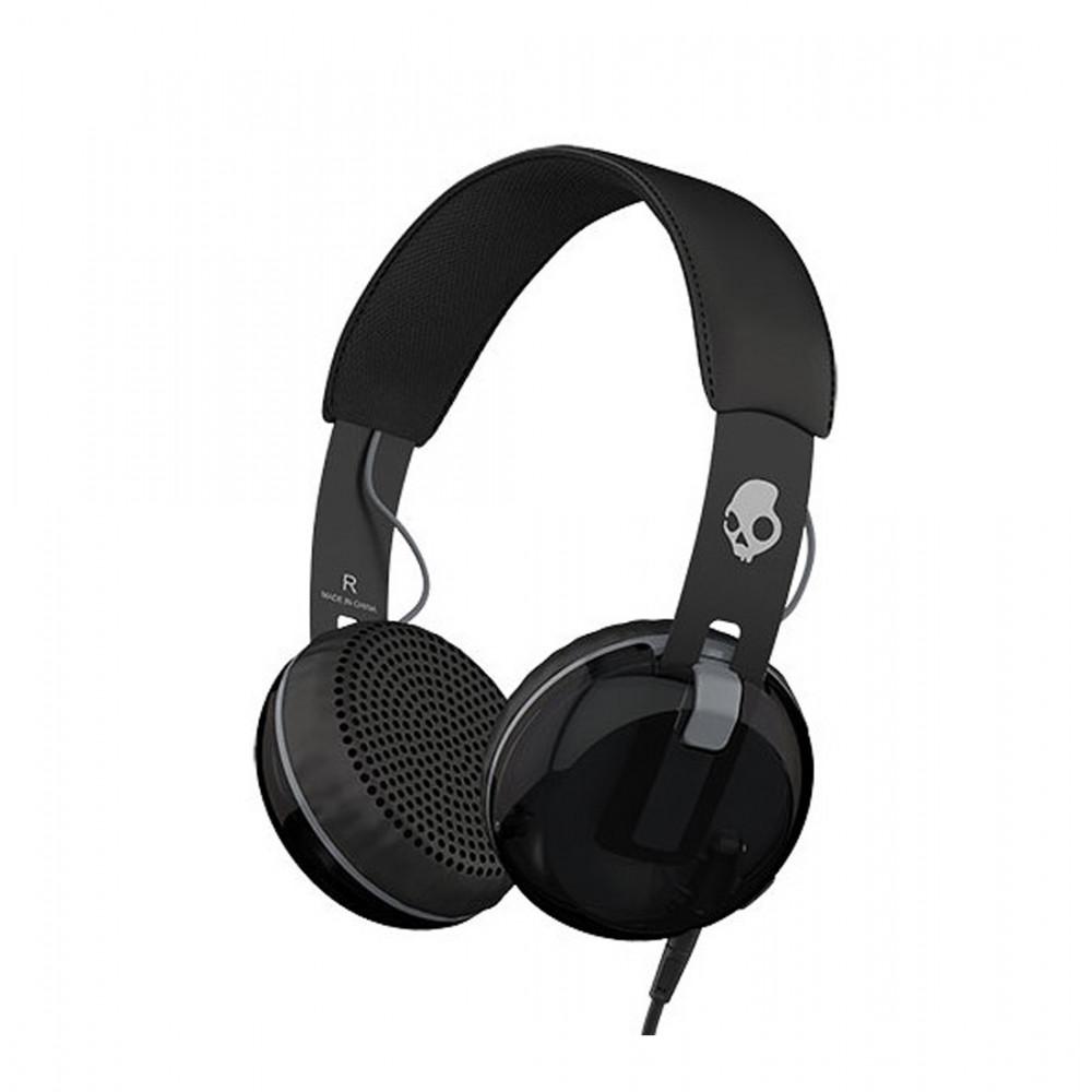 EOL-Skull Candy Grind On-Ear Headphone w/Tap-Black/Black/Grey