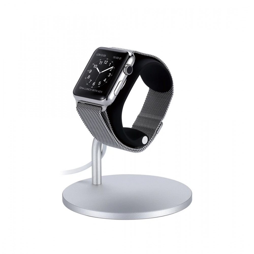 Just Mobile Lounge Dock for Apple Watch-Silver/Black