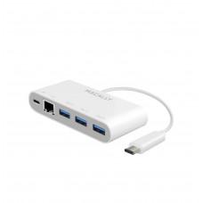 MaCally USB-C 3 Port USB 3.1 w/ Ethernet Hub