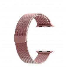Rose Pink Milanese Loop Steel Strap for Apple Watch - 42/44mm