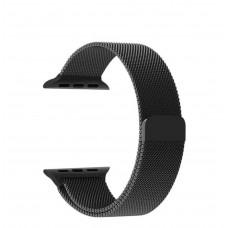 Black Milanese Loop Steel Strap for Apple Watch - 42/44mm