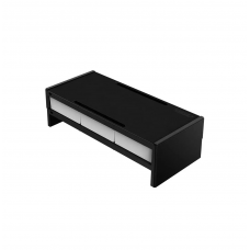 ORICO 14cm Desktop Monitor Stand with Drawers - Black