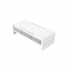 ORICO 14cm Desktop Monitor Stand with Drawers - White