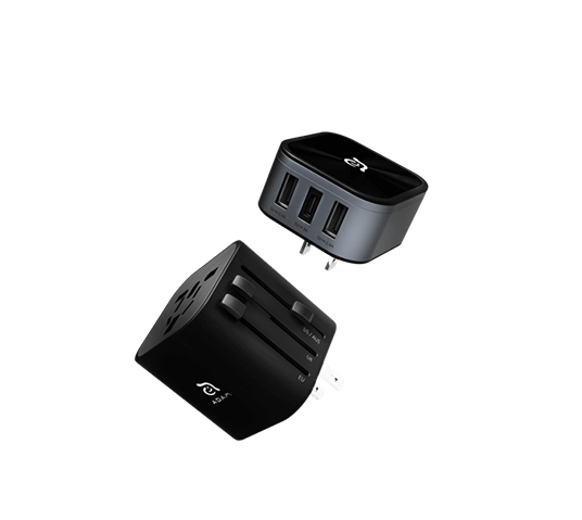 adam elements omnia t3 universal travel adapter image