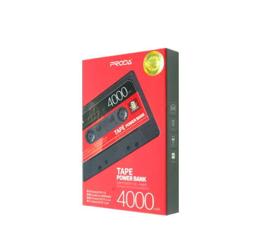 remax tape powerbank 4000mah blk/red (ppp-15) image