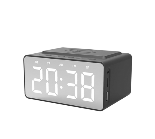 snüg bluetooth clock radio  wireless charger image