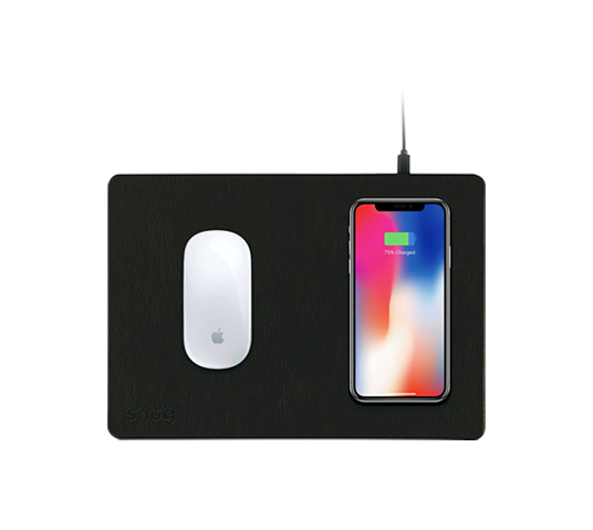 snüg mouse pad with qi wireless charging  image