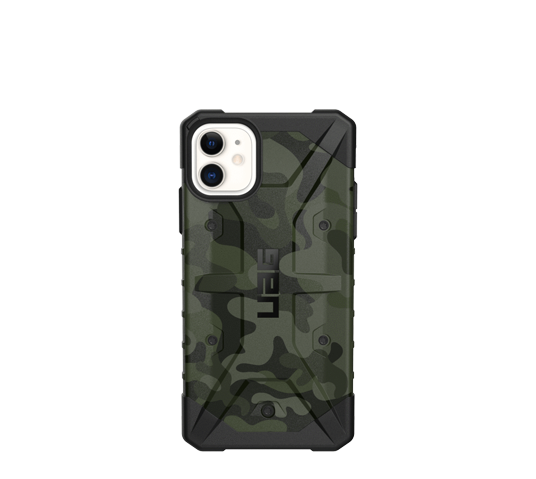urban armour gear pathfinder for iphone 11 - forest camo image