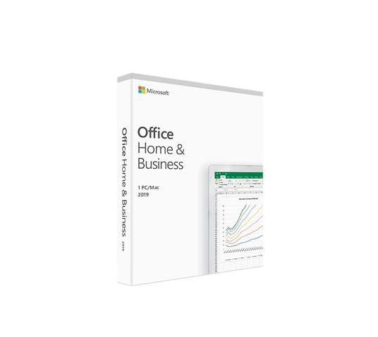 microsoft office home and business 2019 retail box image