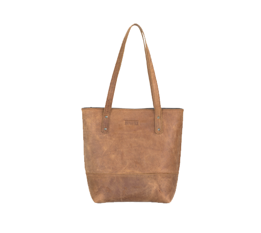 burgundy collective leather shopper bag image