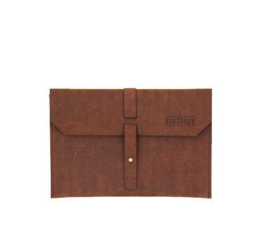 burgundy collective leather tablet sleeve image