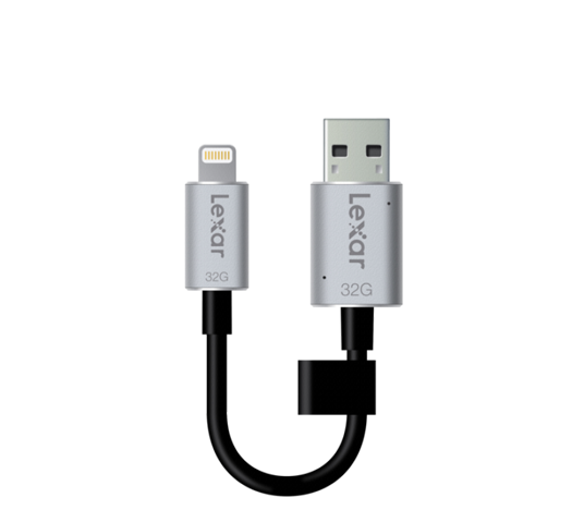 lexar jumpdrive c20i dual lightning/usb 3.0 with charging (16gb to 128gb) image