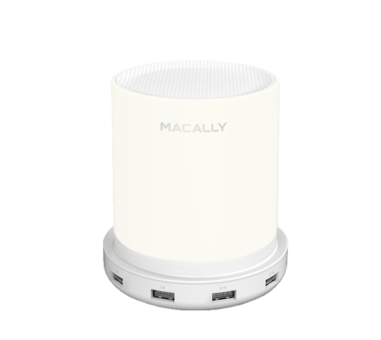 macally table lamp with 4 usb port chargers image