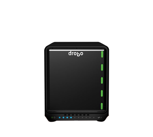 drobo 5n2 nas storage array 1gb ethernet image 1