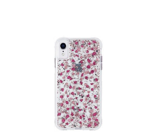 case mate karat petals ditsy flowers pink cover for iphone xr image