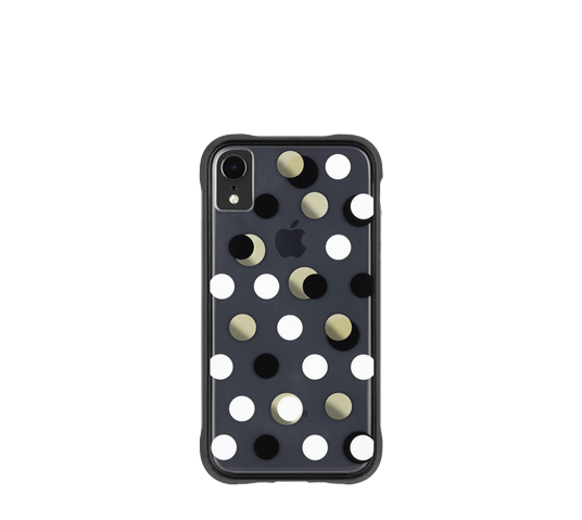 case mate wallpapers black metallic dot cover for iphone xr image