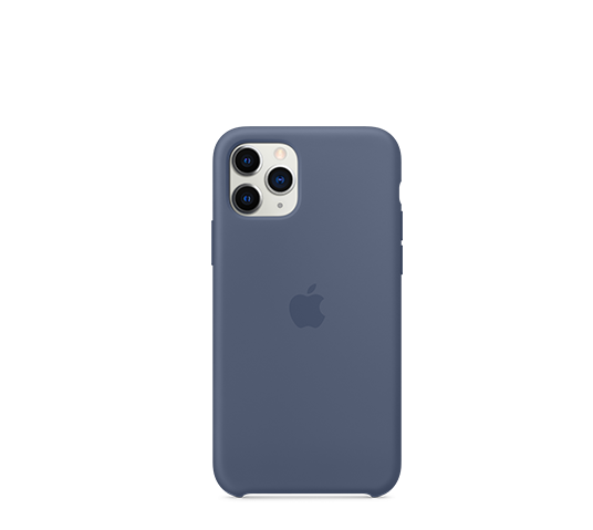 apple iphone 11 pro silicone case - alaskan blue image