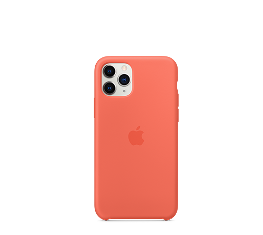 apple iphone 11 pro silicone case - clementine (orange) image