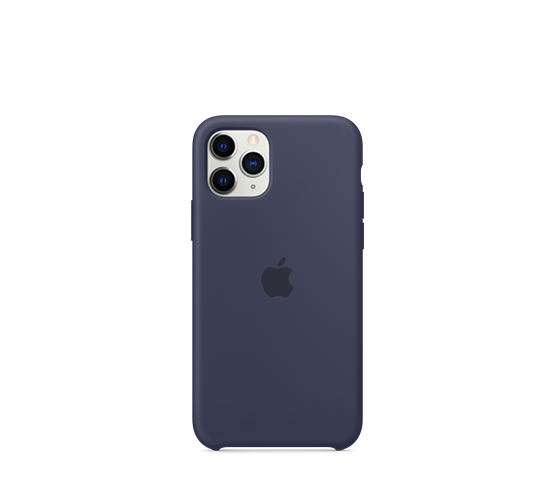 apple iphone 11 pro silicone case - midnight blue image