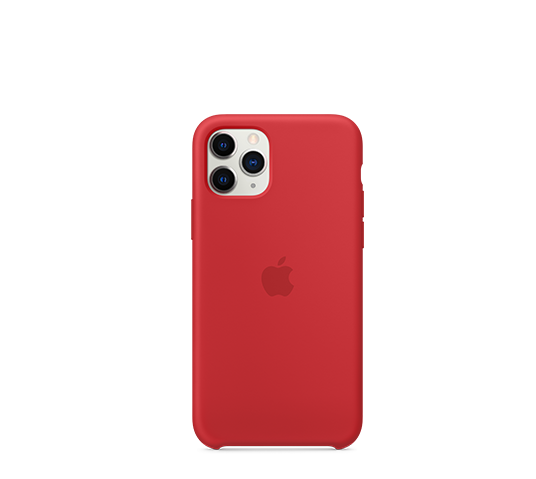 apple iphone 11 pro silicone case - (product) red image