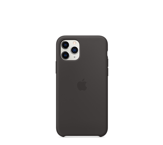 apple iphone 11 pro silicone case - black image
