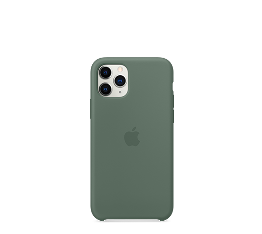 apple iphone 11 pro silicone case - pine green image
