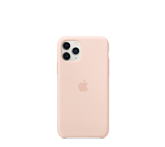 apple iphone 11 pro silicone case - pink sand image