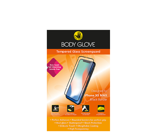 bodyglove iphone xs max tempered glass screenguard image