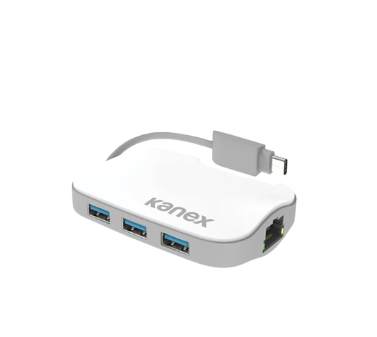 kanex usb-c to 3-port usb hub w/ gigabit ethernet image