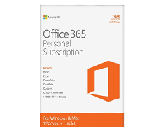 microsoft office 365 personal 1 year single user image