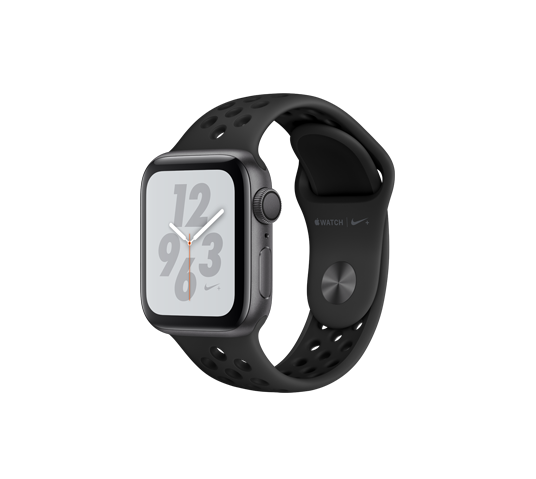 series 4 nike - 40mm space gray aluminum case with anthracite/black sport band image