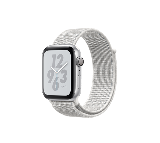 series 4 nike - 44mm silver aluminum case with summit white sport loop image