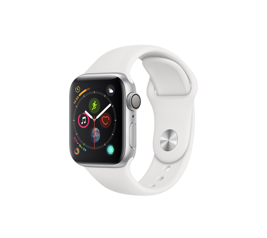 series 4 - 40mm silver aluminum case with white sport band image