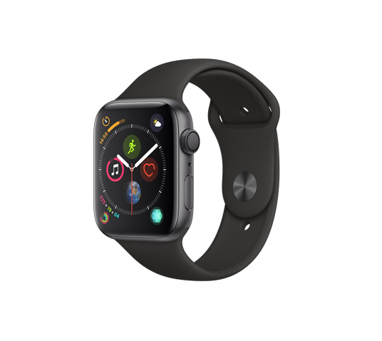 series 4 - 44mm space gray aluminum case with black sport band image