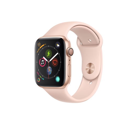 series 4 - 44mm gold aluminum case with pink sand sport band image