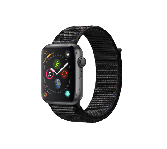 series 4 - 44mm space gray aluminum case with black sport loop image