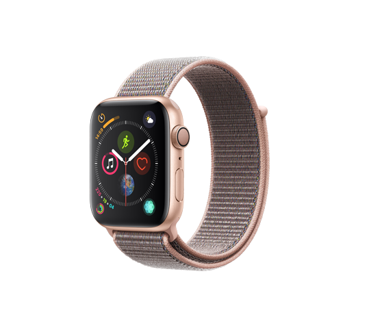 series 4 - 44mm gold aluminum case with pink sand sport loop image