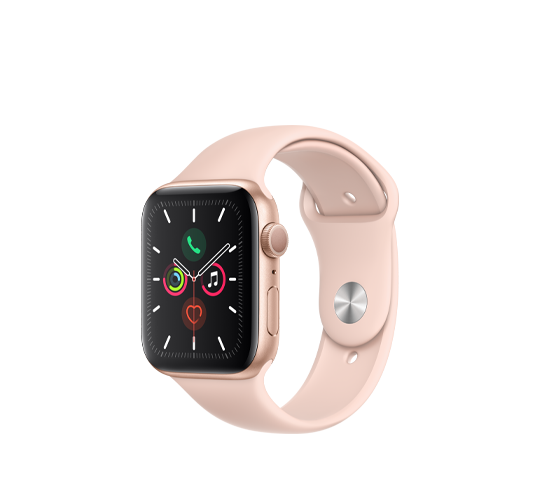 series 5 - 44mm gold aluminum case with pink sport band image