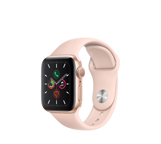 series 5 - 40mm gold aluminum case with pink sport band image