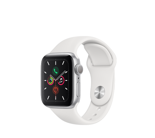 series 5 - 40mm silver aluminum case with white sport band image