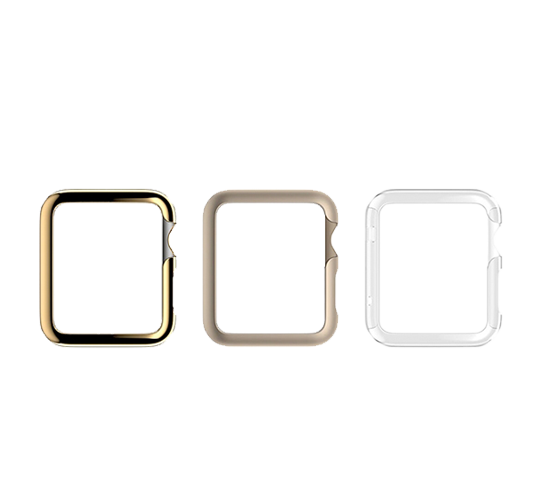 griffin 3-pack ultra thin guard for apple watch (38mm) image