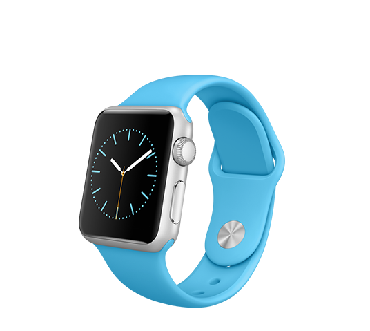 series 1 - 38mm silver aluminium with blue sport band image