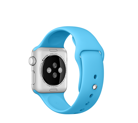 series 1 - 38mm silver aluminium with blue sport band image 2