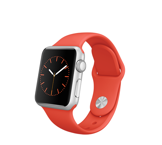 series 1 - 38mm silver aluminium with orange sport band image