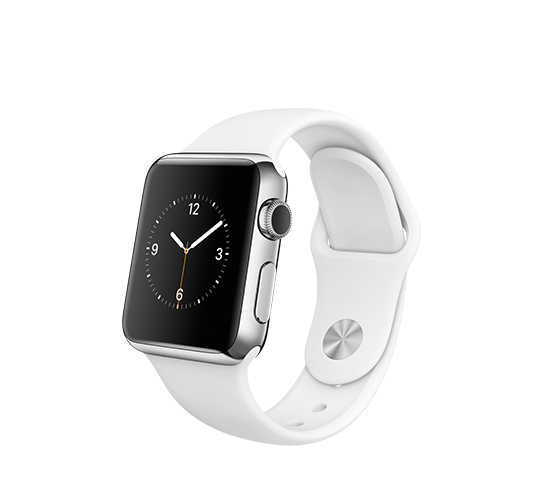 series 1 - 38mm silver aluminium with white sport band image