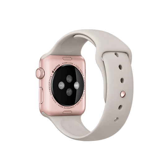 series 1 - 42mm rose gold aluminium with stone sport band image 2